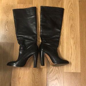 Kors Michael Kors Knee High Black Leather Boots